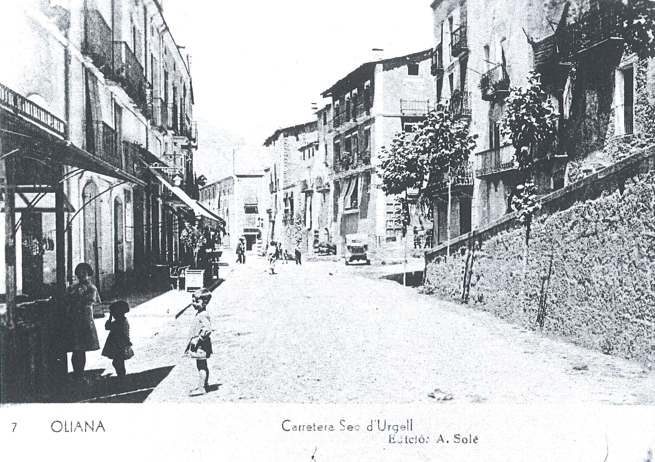 Carretera Oliana any 1930